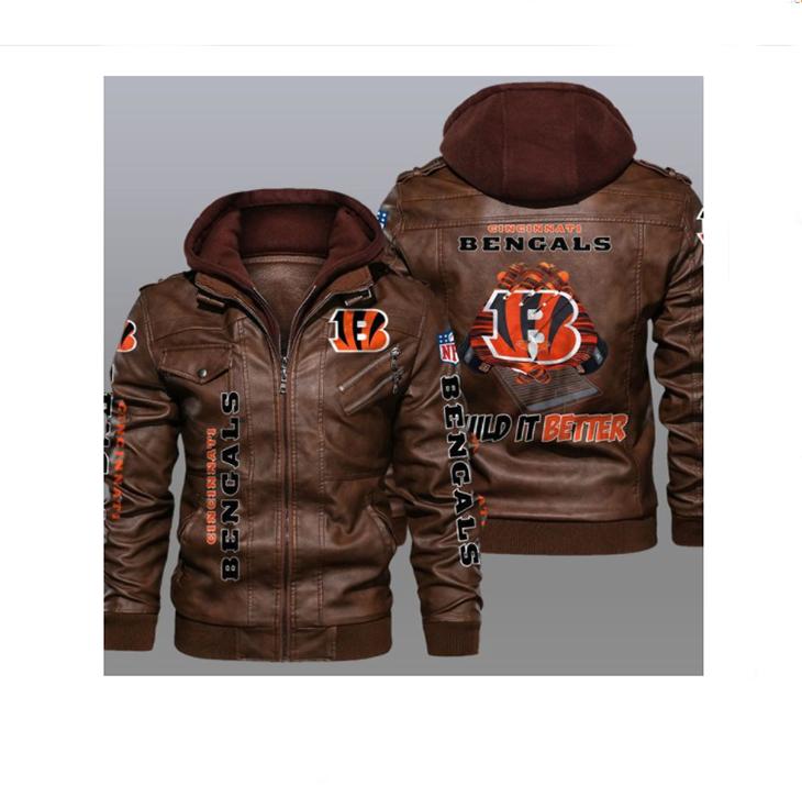 Cincinnati Bengals Wild It Better Leather Jacket1