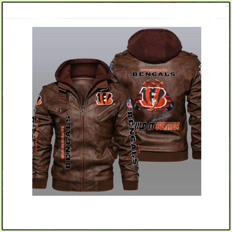 Cincinnati Bengals Wild It Better Leather Jacket2