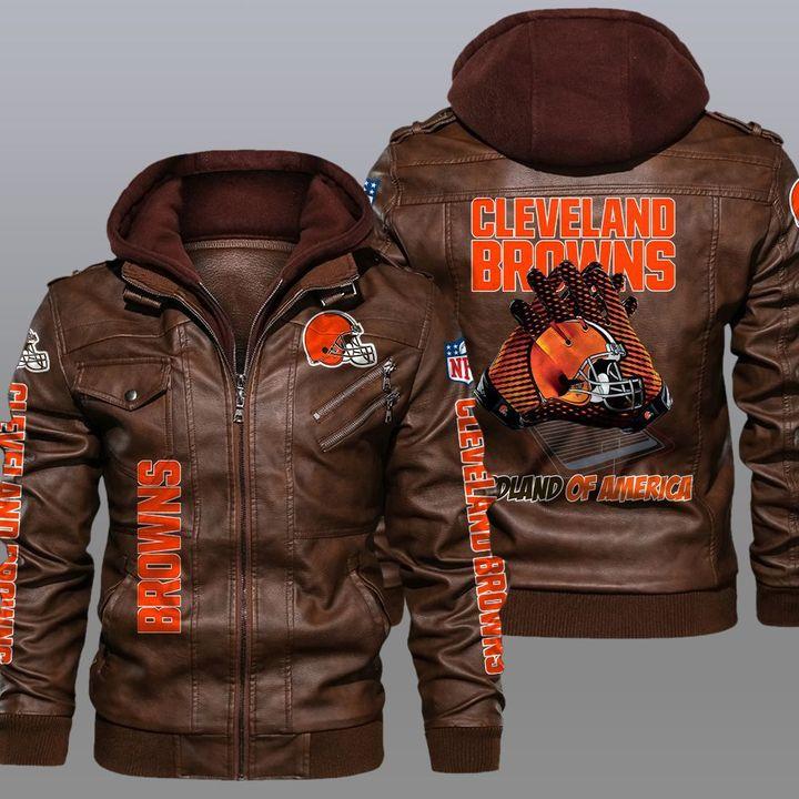 Cleveland Browns Redlands Of America Leather Jacket1