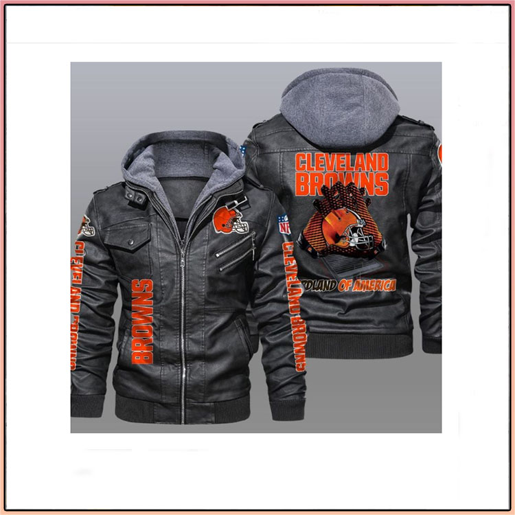 Cleveland Browns Redlands Of America Leather Jacket2