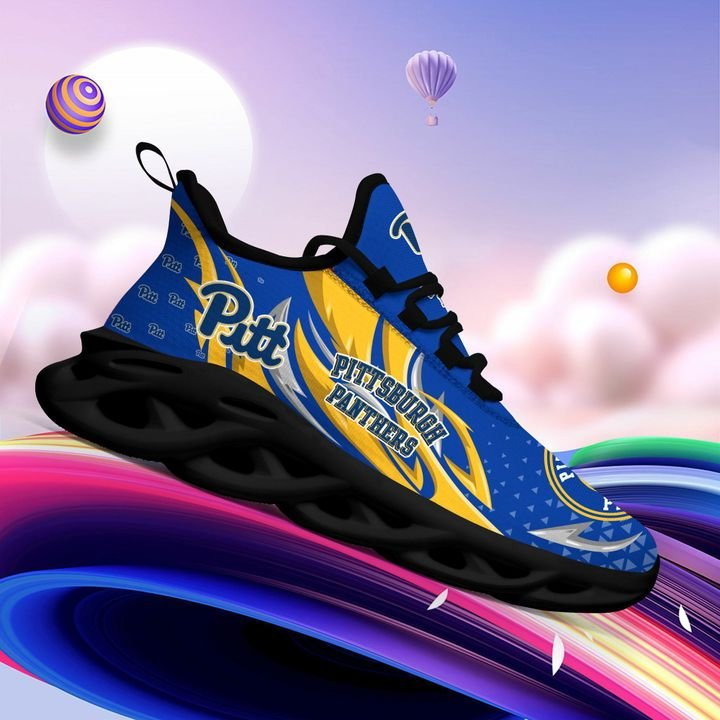 Pittsburgh Panthers clunky Max Soul High Top Shoes 4