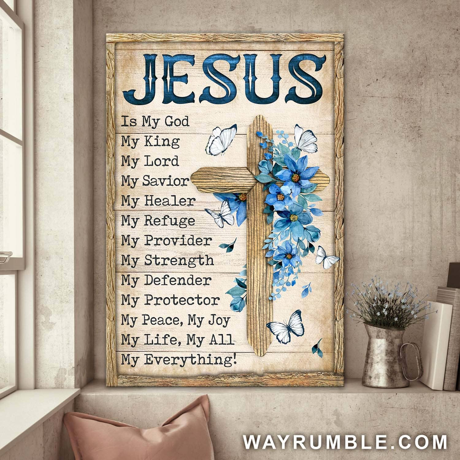 Cross Jesus is my god my life my all my everything canvas 1
