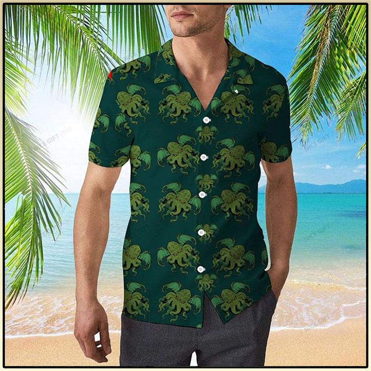 Cthulhu Pattern Hawaiian Shirt 3