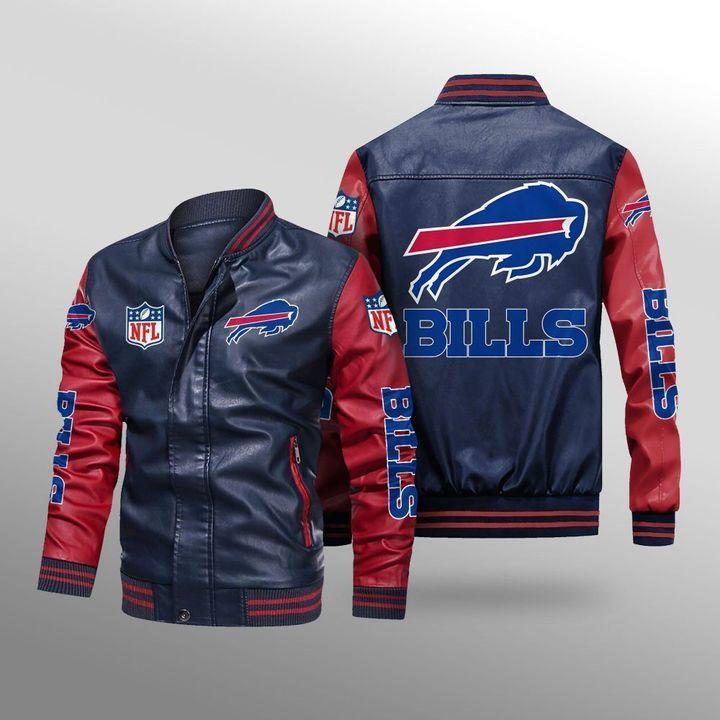 Buffalo Bills Leather Bomber Jacket 4