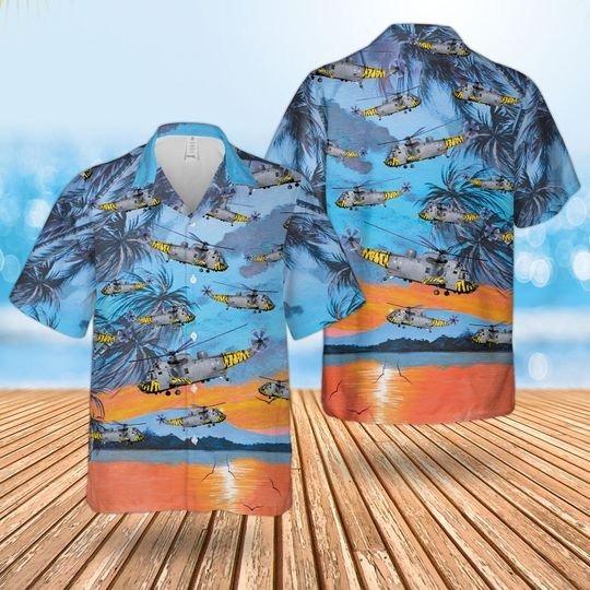 Royal Navy Westland Sea King Has6 Hawaiian Shirt