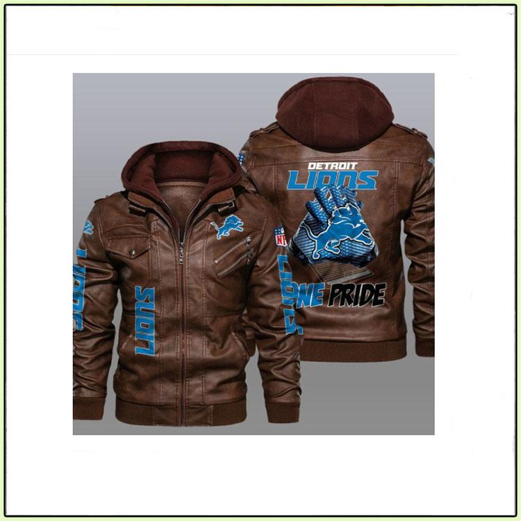Detroit Lions One Pride Leather Jacket1