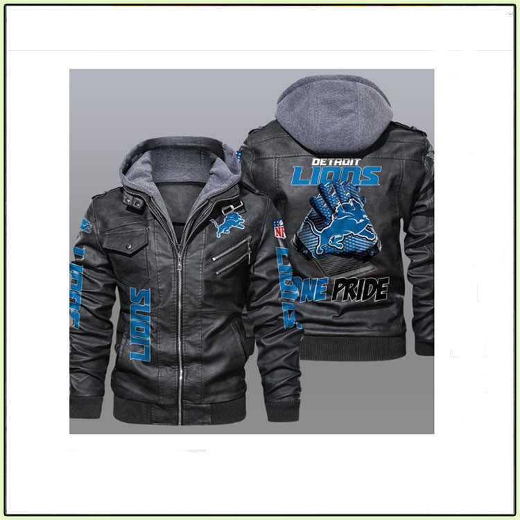 Detroit Lions One Pride Leather Jacket3