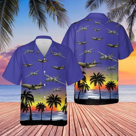 Raf c 130 hercules hawaiian shirt 1