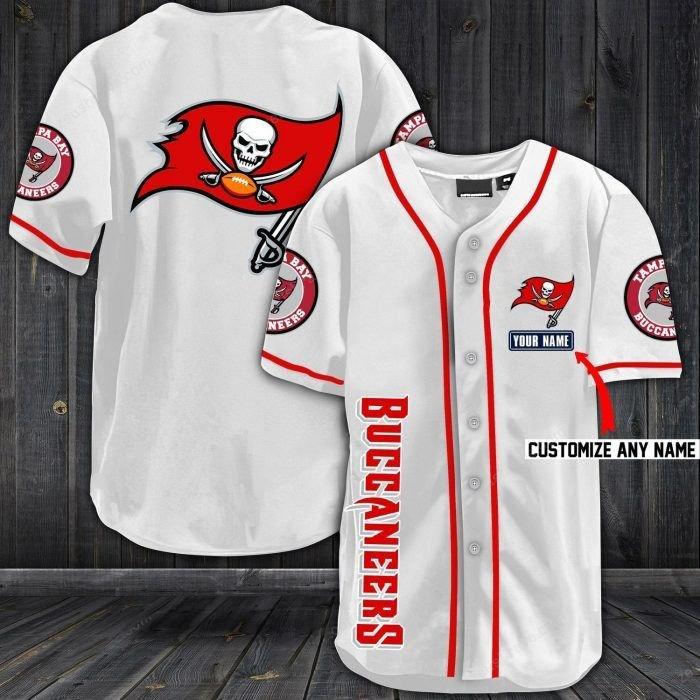 Nfl tampa bay buccaneers baseball jersey shirt