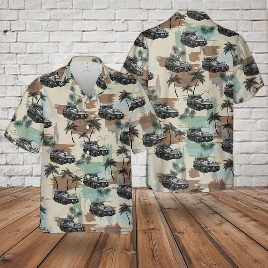 British Army Fv 102 Cvr Striker Hawaiian Shirt