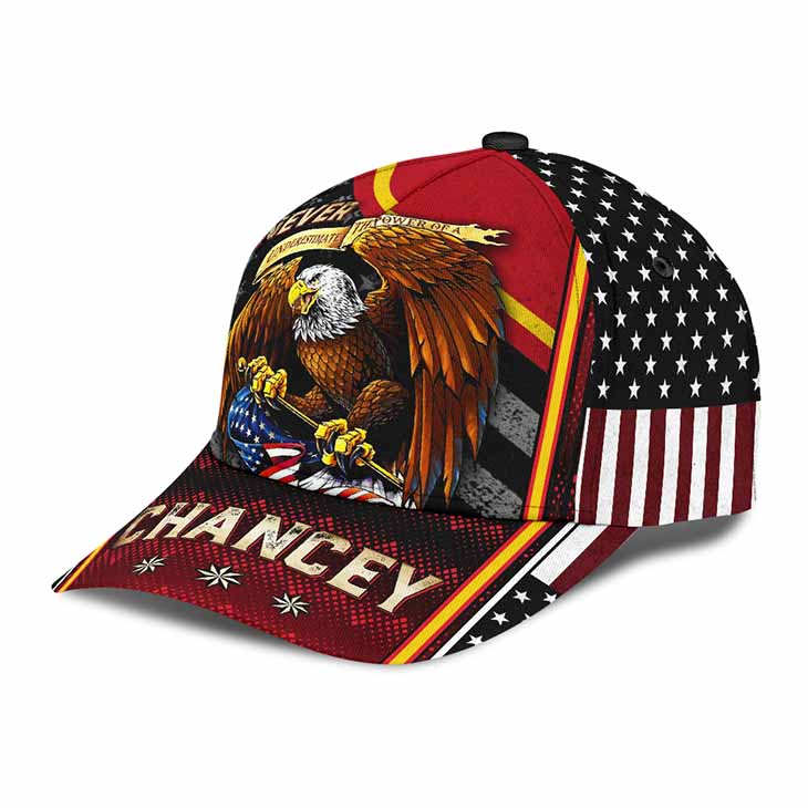 Eagle Never Underestimate The Power Of A Chancey Cap Hat 2