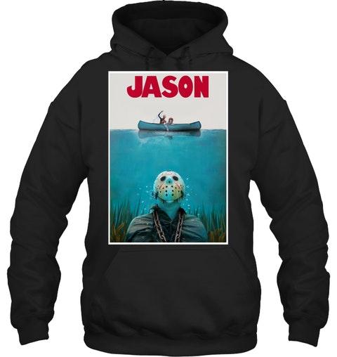Jason Voorhees Jaws Shark Hoodie Shirt1