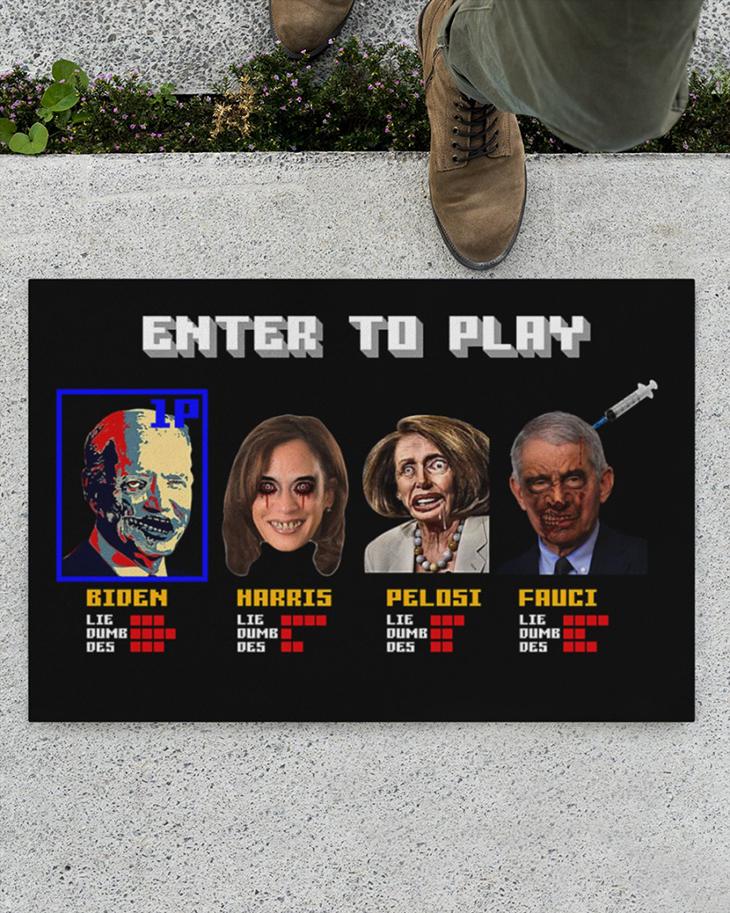 Enter To Play Biden Harris Pelosi Fauci Doormat1