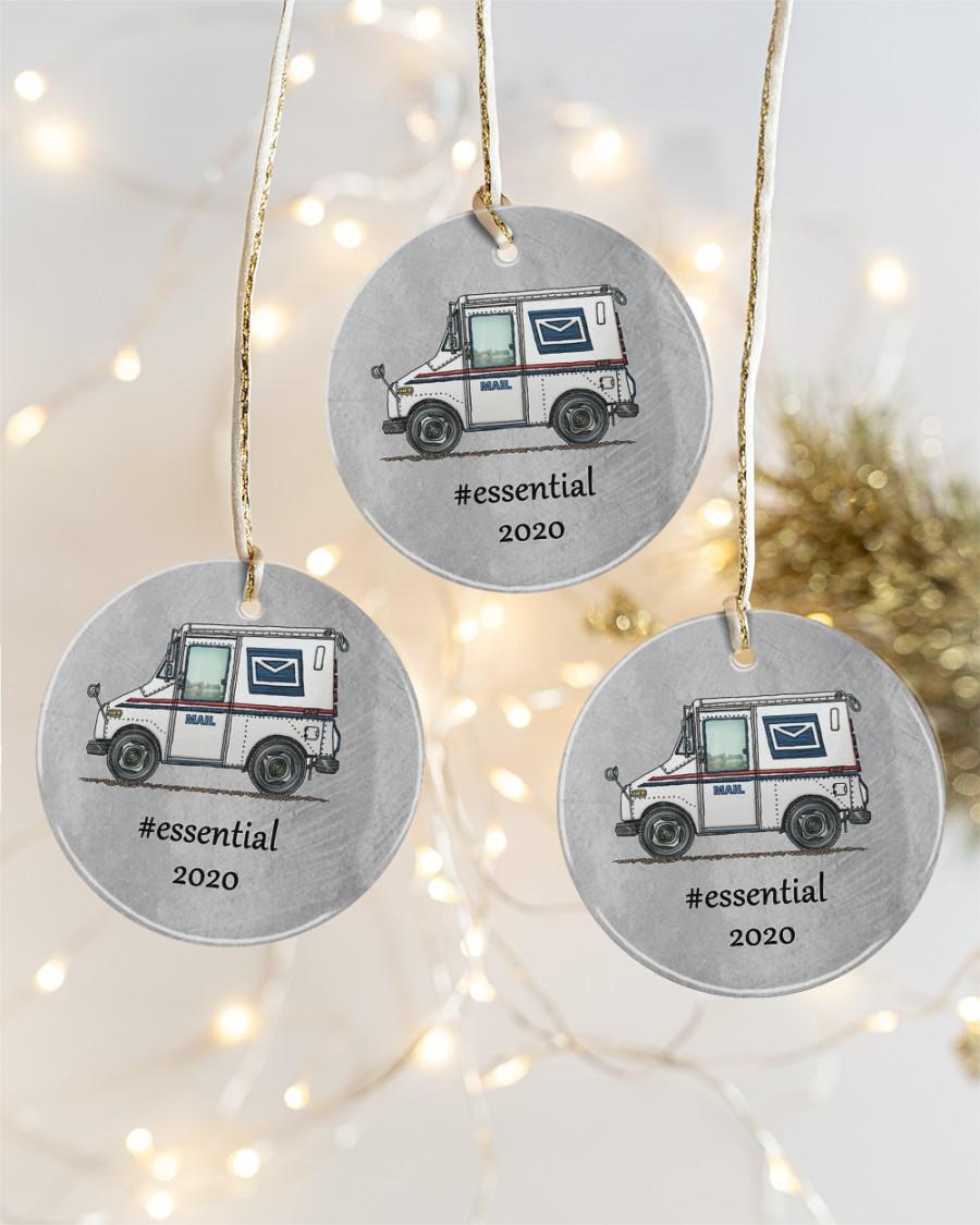 Essential 2020 postal worker circle ornament3