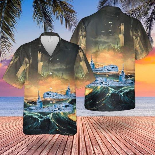 Rn Historical Triton Class T Class Submarine Hawaiian Shirt