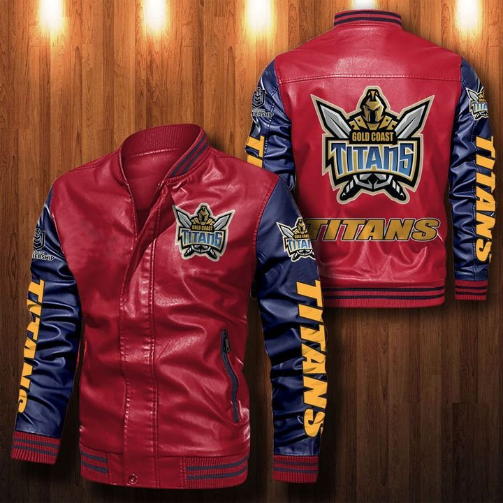 Gold Coast Titans Leather Bomber Jacket 2