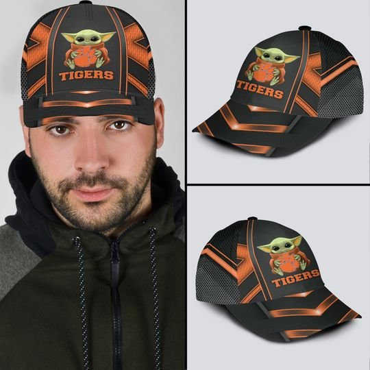 9 Clemson Tigers And Baby Yoda Classic Cap 1