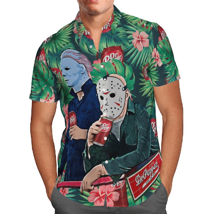Halloween Dr Peeper Jason Voorhees Michael Myers Hawaiian Shirt1