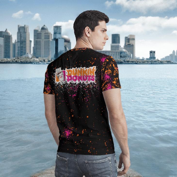 Halloween Dunkin Donuts Jason Voorhees Michael Myers 3d Tshirt2