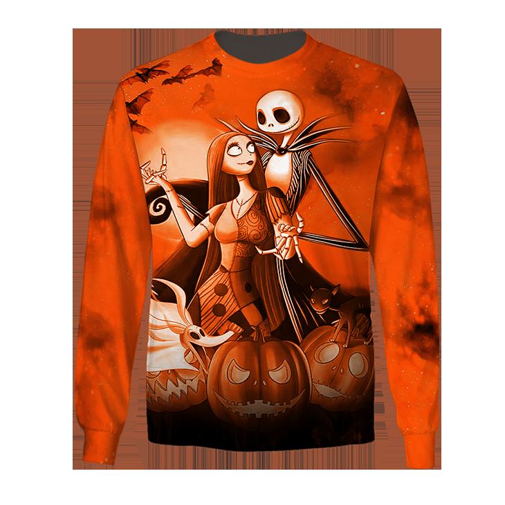 Halloween Jack Skellington And Sally Hoodie Shirt3