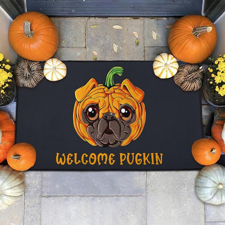 Halloween Pugkin Doormat2