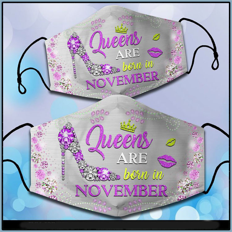 High Heels Queens Are Born In November Face Mask1