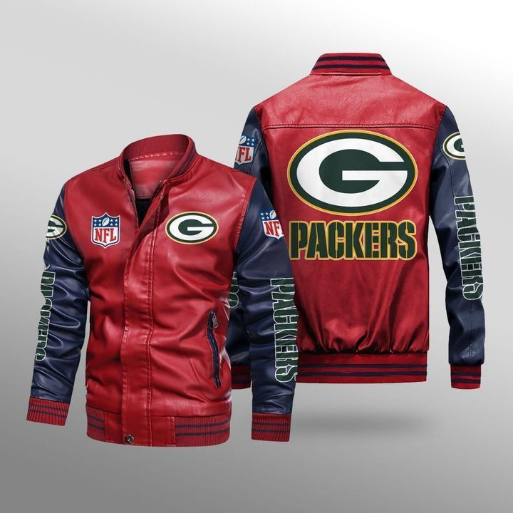 Green Bay Packers Leather Bomber Jacket 2