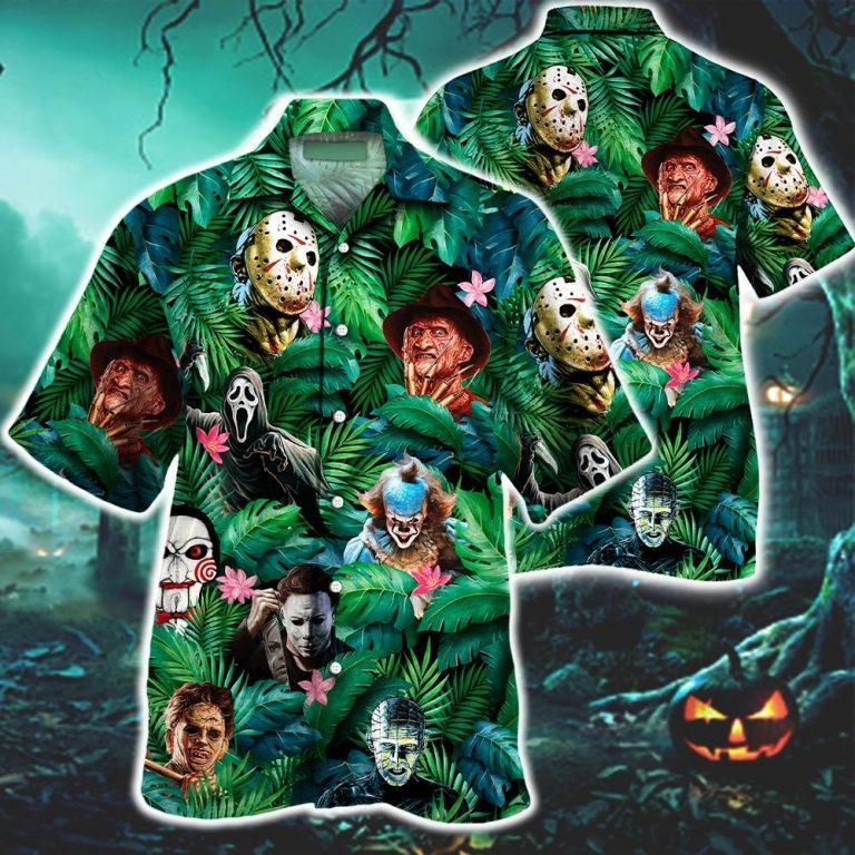 Horror movies characters Hawaiian shirt 1