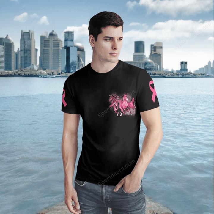 Horse In October We Wear Pink 3D Sweatshirt And Shirt1
