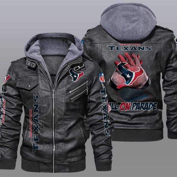Houston Texans Bulls On Parade Leather Jacket