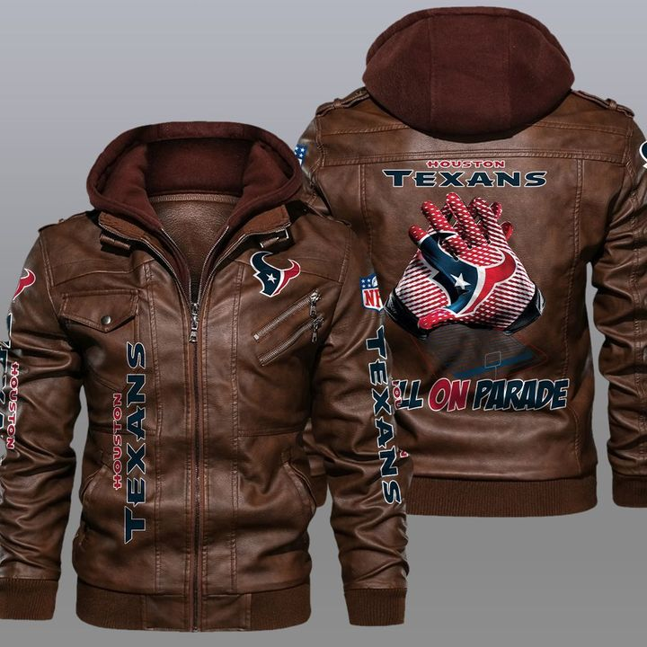 Houston Texans Bulls On Parade Leather Jacket1