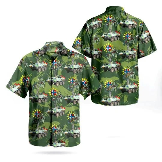 Norwegian army sisu xa 185 hawaiian shirt 1