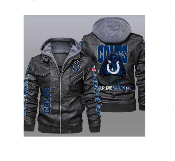 Indianapolis Colts Build The Monster Leather Jacket