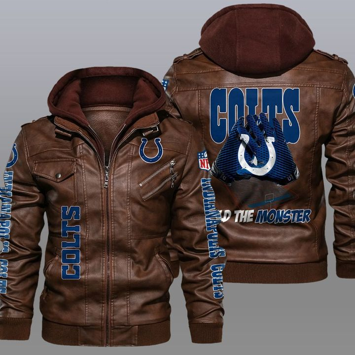 Indianapolis Colts Build The Monster Leather Jacket1