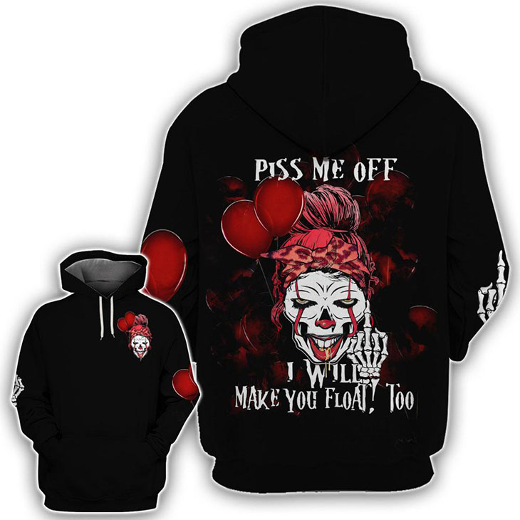 It Movies Skull Piss Me Off I Will Make You Float Too 3D Hoodie Shirt1