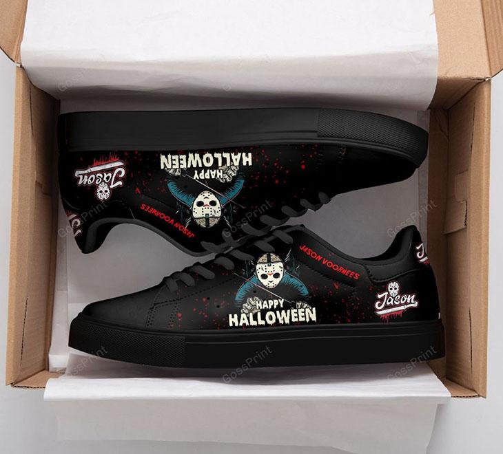JASON VOORHEES Happy Halloween Stan Smith Low top Shoes1
