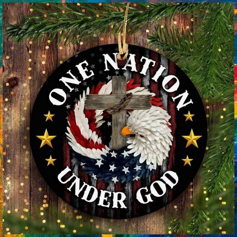 Jesus Eagle one nation under God hanging ornament 1