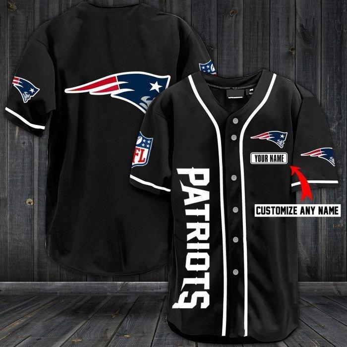 Nfl new england patriots custom name baseball jersey shirt