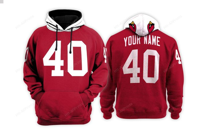 Arizona cardinals custom name hoodie