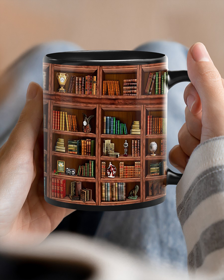 Library Book Shelf Mug7
