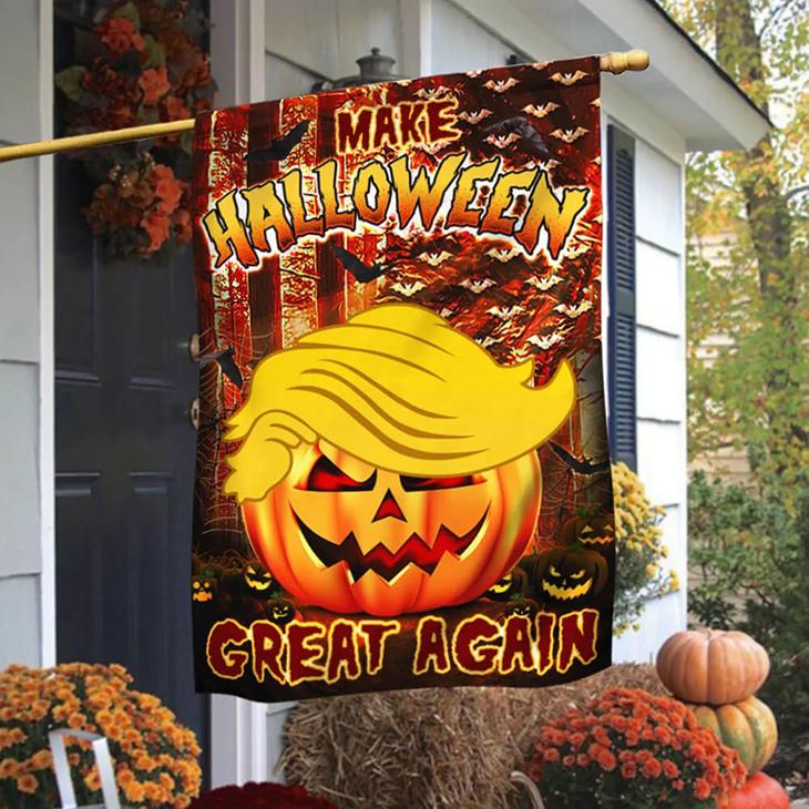 Make Halloween Pumpkin Great Again Flag
