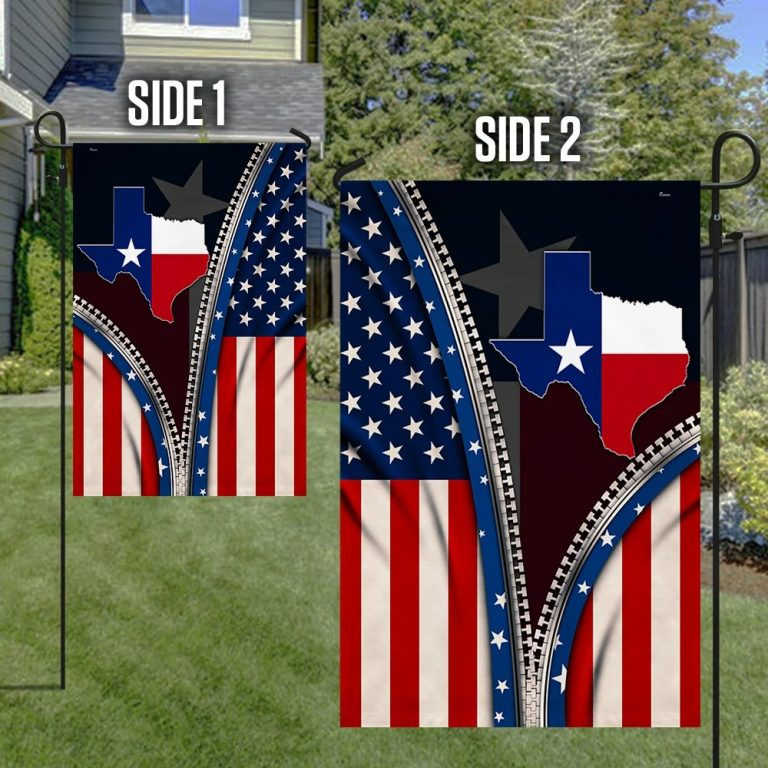 Map of Texas States flag 3