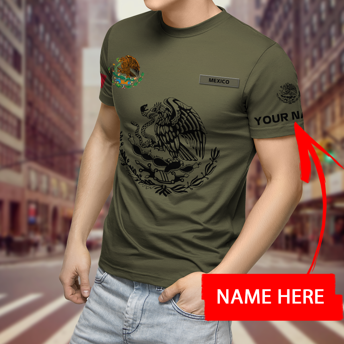Mexican 3D All Over Printed custom Personalized 3d Hoodie shirt3