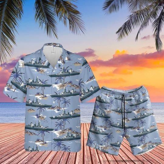Italian navy caio duilio hawaiian shirt and shorts 1