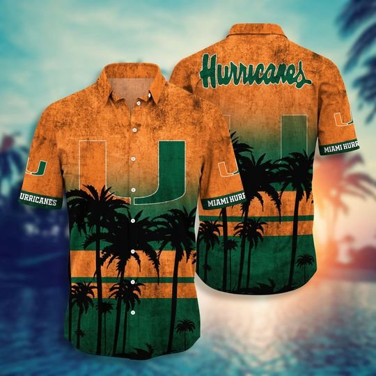 Miami Hurricanes Summer Hawaiian Shirt short