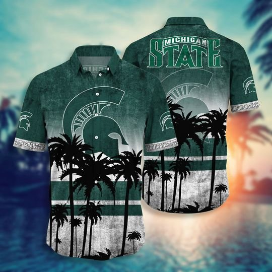 Michigan State Spartans Summer Hawaiian Shirt short