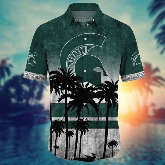 Michigan State Spartans Summer Hawaiian Shirt short1
