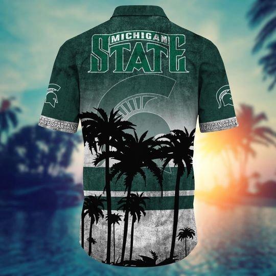 Michigan State Spartans Summer Hawaiian Shirt short2