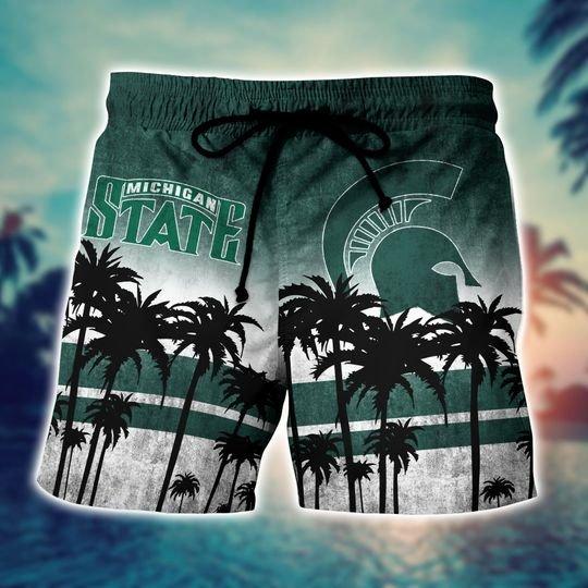 Michigan State Spartans Summer Hawaiian Shirt short3