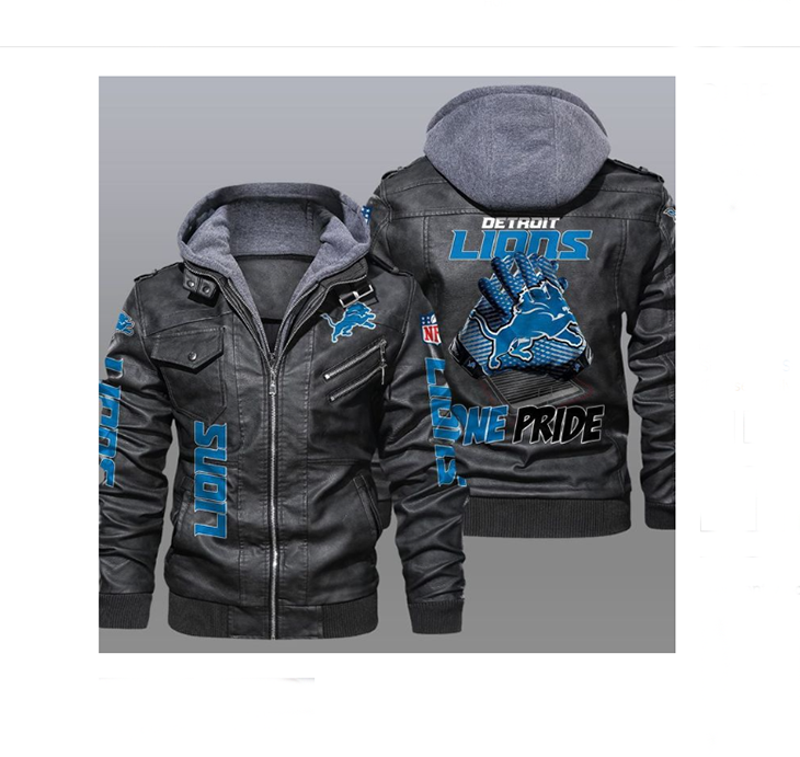 Detroit Lions One Pride Leather Jacket